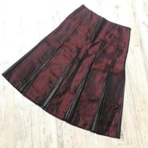 DKNY Shiny Deep Wine Burgundy Dressy Skirt
